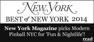 Modern Pinball NYC Best of New York 2014 by New York Magazine