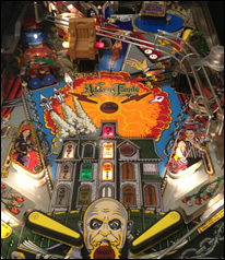 The Addams Family Pinball Machine Playfield