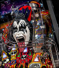 KISS Pinball Machine Playfield