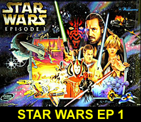 wars episode 1 pinball machine