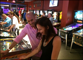Couple Playing at Modern Pinball NYC
