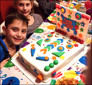 Kids Birthday Party Pinball Cake