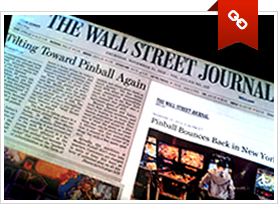 The Wall Street Journal article on Modern Pinball NYC
